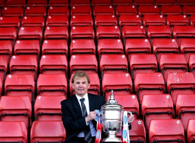 Buckley with the cup.