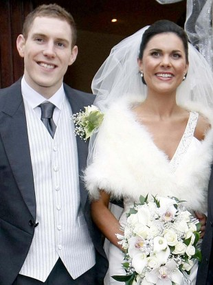 John McAreavey and wife Michaela Harte on their wedding day.