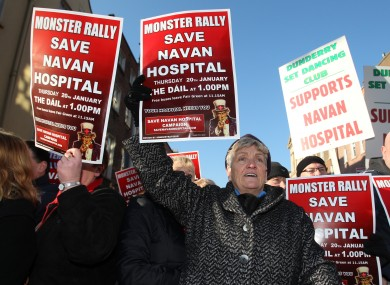 Protesters at a rally last year to save the hospital