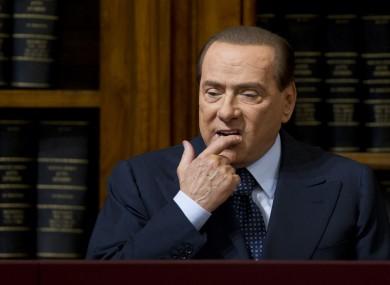 Silvio Berlusconi looking unhappy