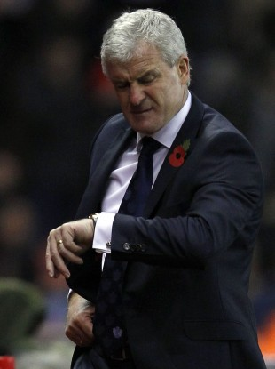 Time's up: End of the line for Mark Hughes.