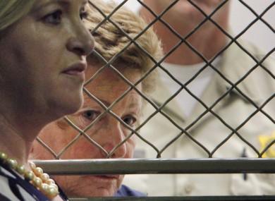 Lois Goodman with her attorney, Allison Triessl, left.