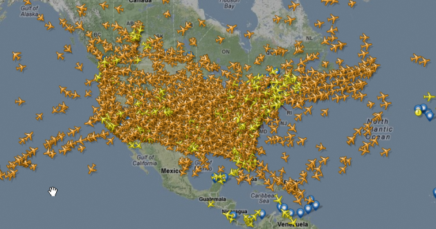 Pic: What happens when Americans fly home for Thanksgiving