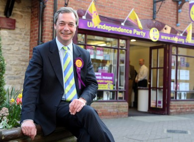 UKIP's Nigel Farage leads the third most popular political party in Britain, according to two new opinion polls this weekend.