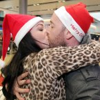 Paul Manning from Ringsend, Dublin is welcomed home for Christmas by Jean Sorohan today at Dublin Airport. Photo: Mark Stedman/Photocall Ireland