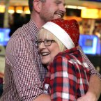 Philip Guildea is welcomed home for Christmas by his mother Roslyn today at Dublin Airport. Philip has been working in Melbourne as a carpenter for two years. Photo: Mark Stedman/Photocall Ireland