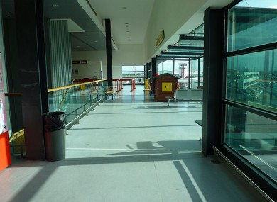 Inside Shannon airport