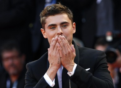 Actor Zac Efron and his profound YOLO tattoo