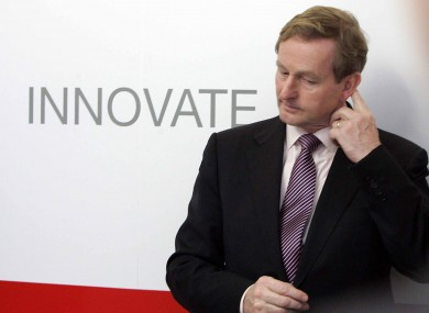 Taoiseach Enda Kenny pictured in Wicklow today.