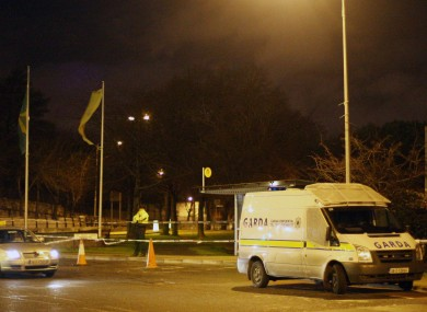 Gardaí investigating the fatal shooting in Dublin city centre sealed off an area on Constitution Hill last night.