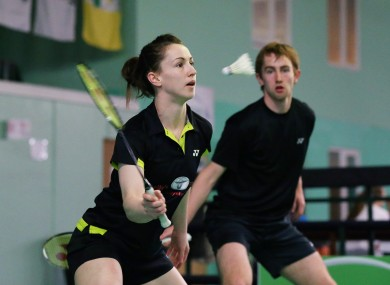 Chloe and Sam Magee won the mixed doubles final.