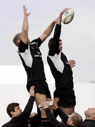 Ulster in training this week ahead of their Heineken Cup clash tonight.