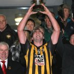 Feel-good factor. Even after all their trophies, Crossmaglen Rangers sense of joy at winning is not diluted. Here captain David McKenna lifts the Ulster cup for the 10th time in the club's history. (INPHO/Presseye/Andrew Paton).