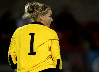 Emma Byrne made a series of fine saves during the game (file photo).