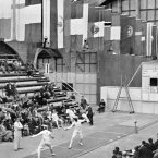 Dorothy Dermody, who died in April aged 102, competed in fencing for Ireland at the 1948 London Olympic Games. Image: Empics/EMPICS Sport