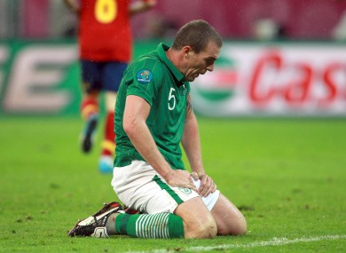 Richard Dunne last played at Euro 2012 for Ireland.