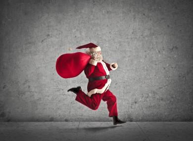 Hey Santa! Santy! Saint Nicho... oh, never mind.