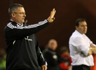 Craig Levein was sacked after successive defeats.