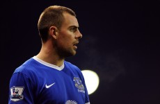Everton's Irish midfielder Darron Gibson wins his red card appeal