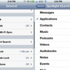 Spotlight is a useful tool for finding stuff on your phone, but if you've set it to search your entire phone for every single item present then it can take some time.  Have it only search items you care about by starting at Settings, then select General, and finally choose Spotlight search.  You can select what your phone indexes and speed up the interface.