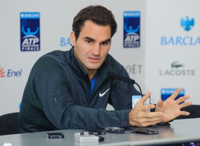 Federer also said it is impossible to compare his status with Messi and Diego Maradona's in the pantheon of sporting greats.