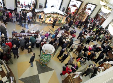 People queue at the GPO in Dublin to send Christmas mail earlier this week
