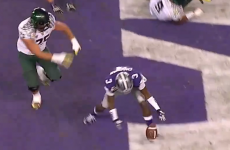 VIDEO: The rarest play in American football happened last night
