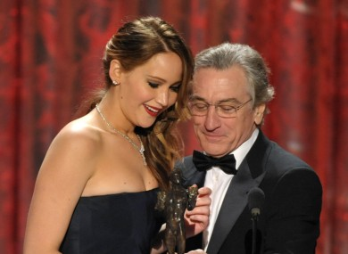 Is Robert de Niro sneaking a look down her top? Answers on a postcard please.