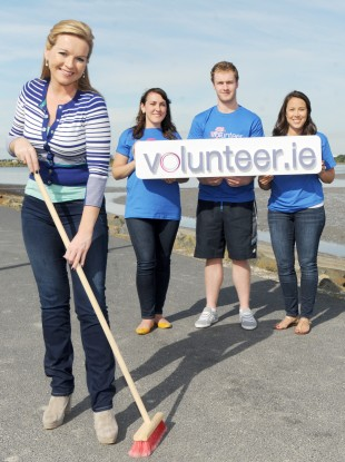 Broadcaster Claire Byrne promotes Volunteer Ireland last year.