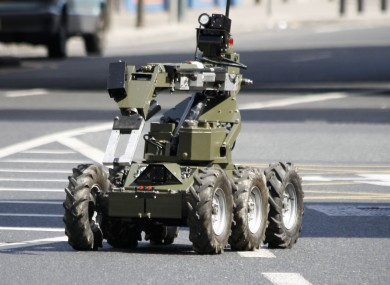 File photo of a robotic device used by the Defence Forces bomb disposal teams.