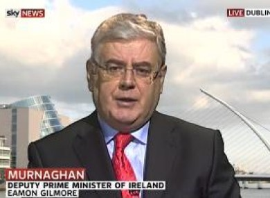 Tánaiste Eamon Gilmore on Sky News this morning.