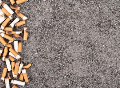 Cleaning up their act: discarded cigarettes can be broken down and recycled.