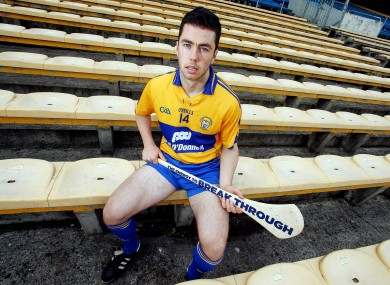 Injured Clare attacker Conor McGrath.