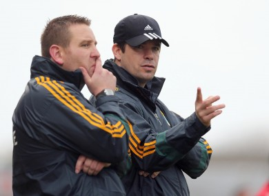Kerry manager Eamonn Fitzmaurice with selector Cian O'Neill.