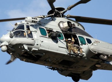 Caracal helicopter with French commandos (file photo).
