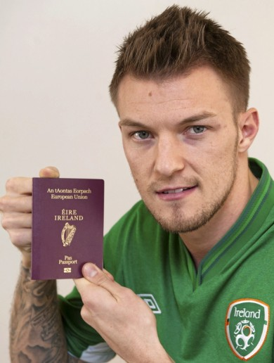 Snapshot: Anthony Pilkington has got his Irish passport