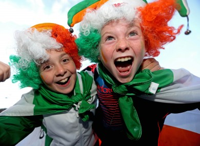 Ireland fans Ryan Lally and James McDonnell.