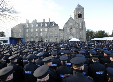 Gardaí attend the funeral of Detective Garda Adrian Donohoe on Wednesday