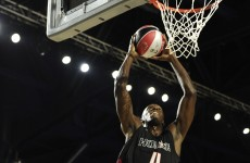VIDEO: Add basketball to the sports Usain Bolt is good at