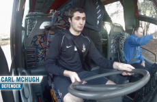 VIDEO: Carl McHugh can't park the bus