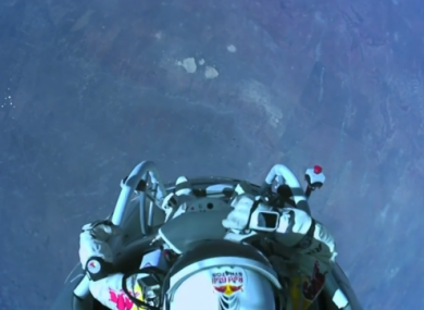 This is what a 24-mile skydive looks like...