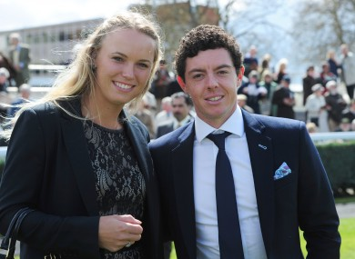 Caroline Wozniacki and Rory McIlroy.