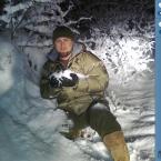 Enjoying some snow.