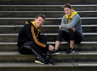 Katie Taylor teams up with Brian O'Driscoll for the launch of the new adidas BOOST footwear in Dublin this week.