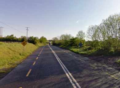 The R446 outside Thomastown in Co Kilkenny, where the accident occurred in 2007.