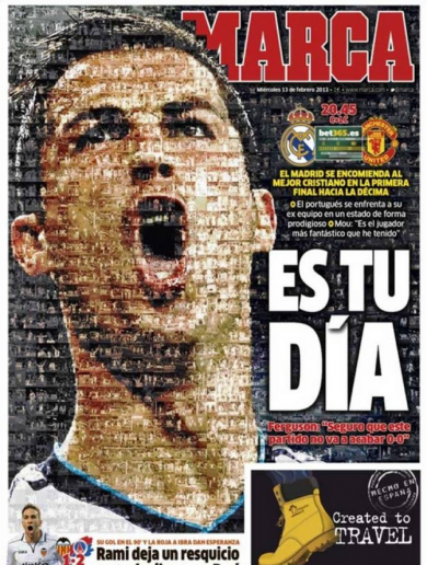 'It's Your Day' – Marca creates stunning front page for Real v Man Utd clash