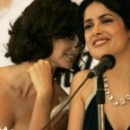 """PENELOPE CRUZ AND SALMA HAYEK:  Salma and Penelope's friendship started on the set of Bandits, where they were almost in a plane crash.  Penelope said, """"We almost died. At that very moment a thought came across my mind that if I were to die at that moment at least I'd die with my best friend.""""  Aaaaaaaaaaaah...  AP Photo/Dario Lopez-Mills"""