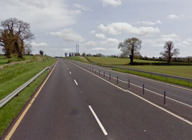 The N24 outside Cahir in Co Tipperary, where three men were arrested this evening.