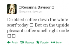 Tweet Sweeper: Rosanna Davison is dribbling