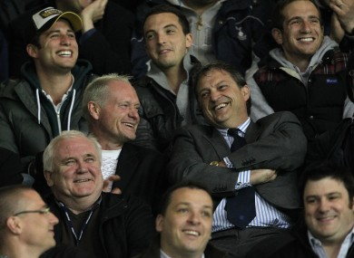 Gascoihne and Mabbutt at a Spurs match in 2011.